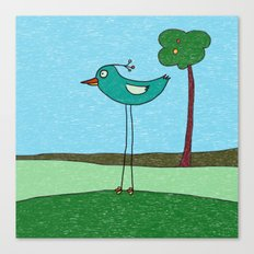 Tall Bird and a Tree Canvas Print