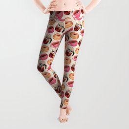 Coffee Donut Percolator Pattern Leggings