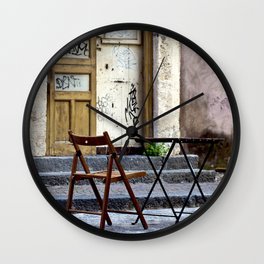 Coffee time in Catania on the Isle of Sicily Wall Clock