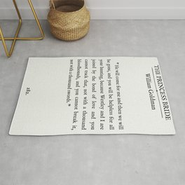 "Book Page - The Princess Bride ""The Bond of Love"" Quote Rug"