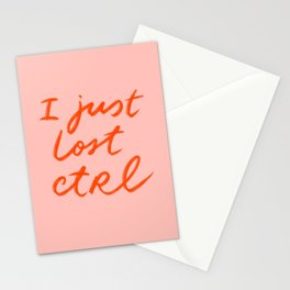 I just lost control Stationery Cards