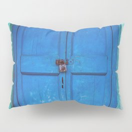 Blue Indian Door Pillow Sham