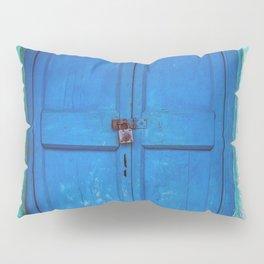 Blue Indian Door Pillow Sham
