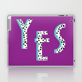 YES Poster | Purple Dalmatian Pattern Laptop & iPad Skin