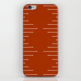 Terracotta geometric pattern iPhone Skin