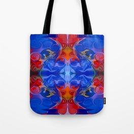 Blue Beginnings Abstract Pattern Artwork  Tote Bag