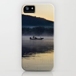 Fishing in the Morning Mist iPhone Case