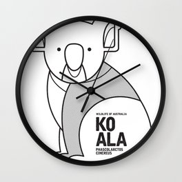 Koala, Wildlife of Australia Wall Clock