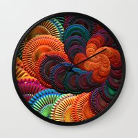 coasters Wall Clocks featuring The Coasters by ArtPrints