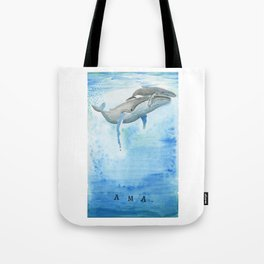 Ama - Whale mom and calf song Tote Bag