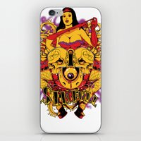 rockabilly iPhone & iPod Skins featuring Sinful rockabilly  by Tshirt-Factory