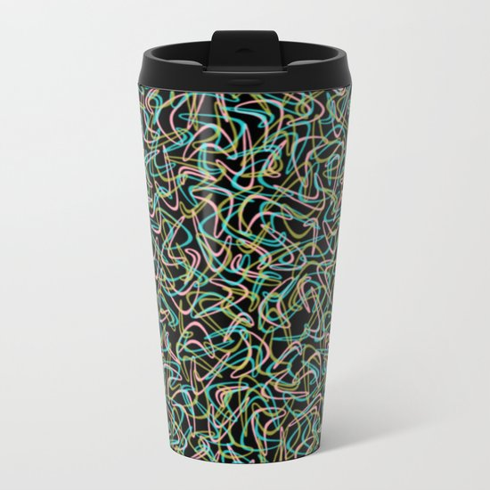 Boomerang Neon Metal Travel Mug