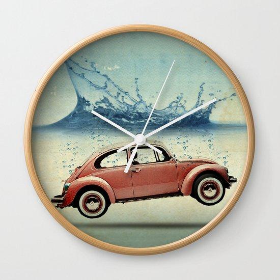 Drop in the Ocean Wall Clock