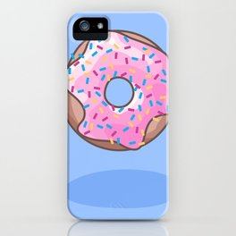 Pink Strawberry Donut iPhone Case