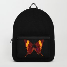 Butterfly - Vibrant Glow - Orange Brown Yellow Black Backpack