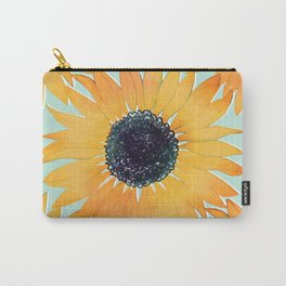 Pretty Hand Drawn Yellow Sunflowers Paint Pattern Carry-All Pouch