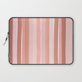 Striped minimal abstract painting modern color pinks metallics decor and art Laptop Sleeve