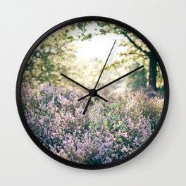 morning heather Wall Clock