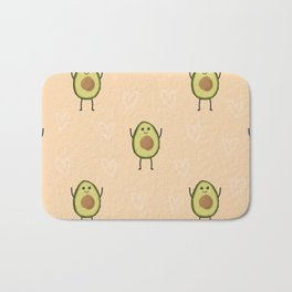 Avocados Cute Funny Fruits Pattern Bath Mat