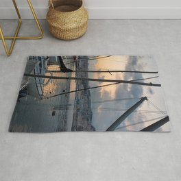 Nautical Sunset in Italy Rug