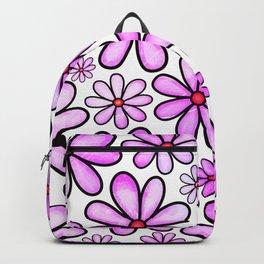 Doodle Daisy Flower v04 Backpack