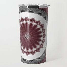 Mauve Kaleidoscope Art 1 Travel Mug