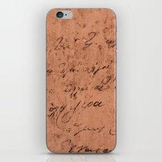 Manuscript iPhone & iPod Skin