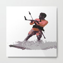 Board Out Of Your Mind Kitesurf Vector Metal Print