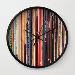 Indie Rock Vinyl Records Wall Clock