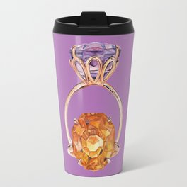 Circles on Purple Travel Mug