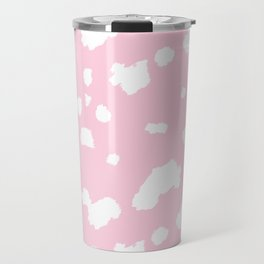 dalmatian in pink and white Travel Mug