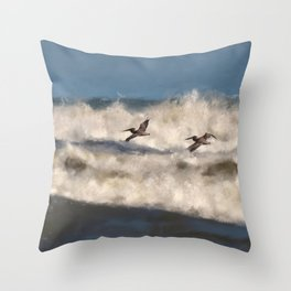 Between The Waves Throw Pillow