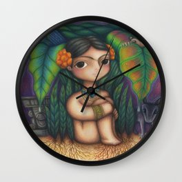 Niña Frida Wall Clock