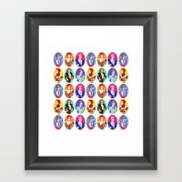 Glam Bowie pattern  Framed Art Print