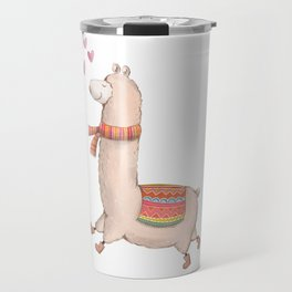 Happy Chubby Llama Travel Mug