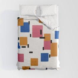 Piet Mondrian - Composition in Color A 1917 Artwork for Wall Art, Prints, Posters, Tshirts, Men, Women, Kids Duvet Cover