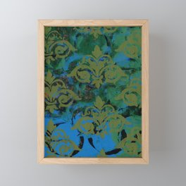 Moss Damask Framed Mini Art Print