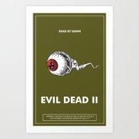 evil dead Art Prints featuring Evil Dead 2 - Green by Dukesman