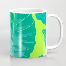 Giant Elephant Ear Leaves in Neon Lime Green Coffee Mug
