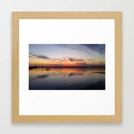 St Kilda Sunset Bird_Landscape Framed Art Print