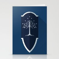 gondor Stationery Cards featuring Shield of Gondor by DWatson