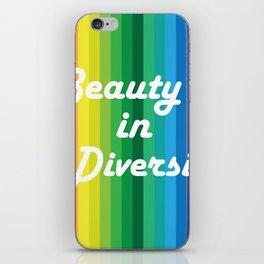 Beauty in Diversity iPhone Skin