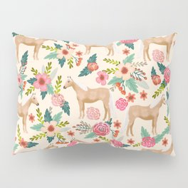 Palomino Horse floral farm nature animal horse lovers ponies florals Pillow Sham