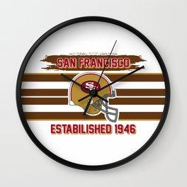 49ers club san francisco Wall Clock