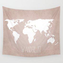 Wanderlust World Map Wall Tapestry