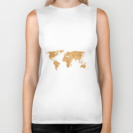 Gold World Biker Tank
