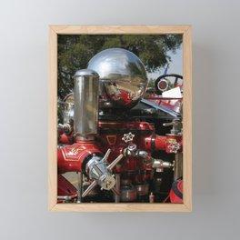 Old Fire Truck Framed Mini Art Print