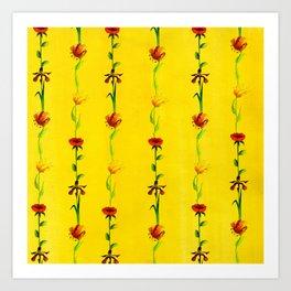 Sun's Flowers Art Print