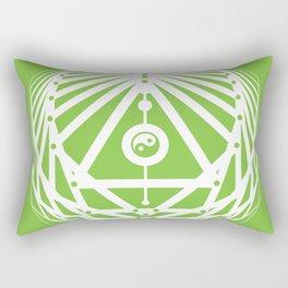 Radiant Abundance (green-white) Rectangular Pillow