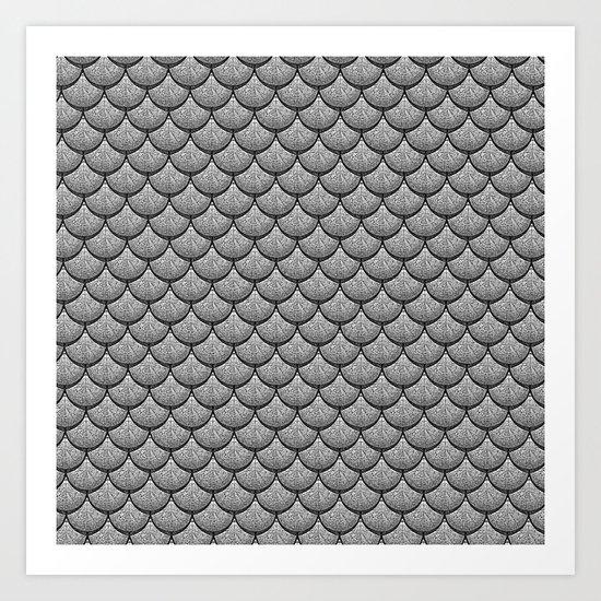 India Ink (Gray) Art Print